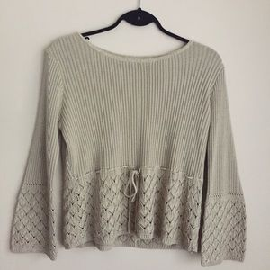 Vintage Knit Bell Sleeve Sweater